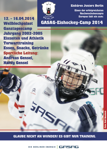 Grafik GASAG-Eishockey-Camp Ostern2014