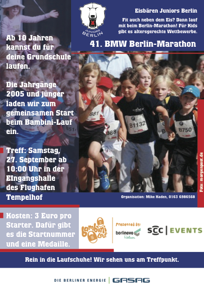 Flyer Berlin-Marathon2014